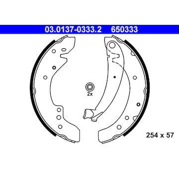 Sada brzdových čelistí ATE 03.0137-0333.2