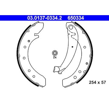 Sada brzdových čelistí ATE 03.0137-0334.2