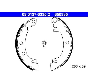 Sada brzdových čelistí ATE 03.0137-0335.2