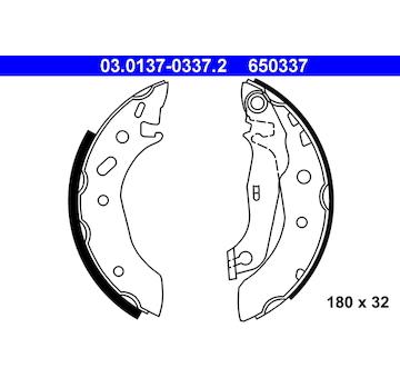 Sada brzdových čelistí ATE 03.0137-0337.2
