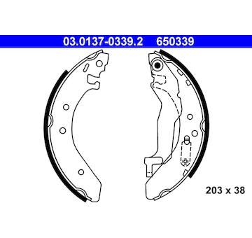 Sada brzdových čelistí ATE 03.0137-0339.2
