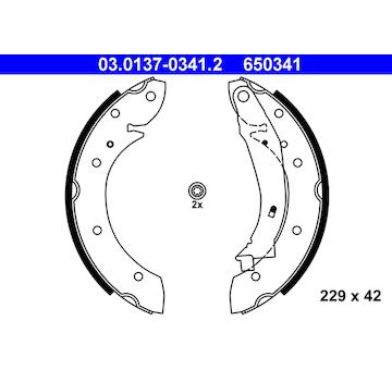 Sada brzdových čelistí ATE 03.0137-0341.2