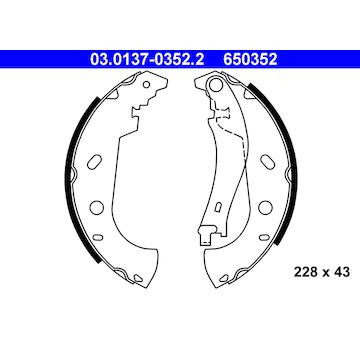 Sada brzdových čelistí ATE 03.0137-0352.2