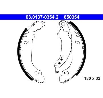 Sada brzdových čelistí ATE 03.0137-0354.2