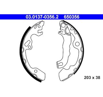 Sada brzdových čelistí ATE 03.0137-0356.2
