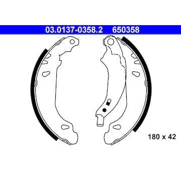 Sada brzdových čelistí ATE 03.0137-0358.2