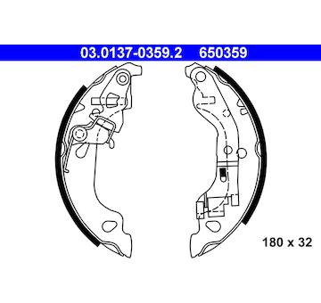 Sada brzdových čelistí ATE 03.0137-0359.2