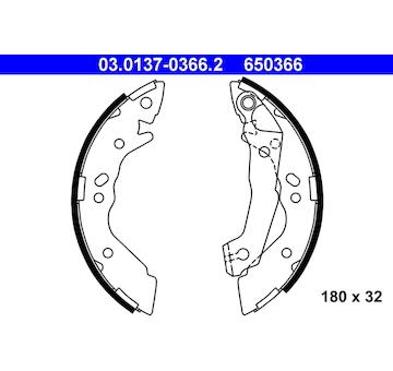 Sada brzdových čelistí ATE 03.0137-0366.2
