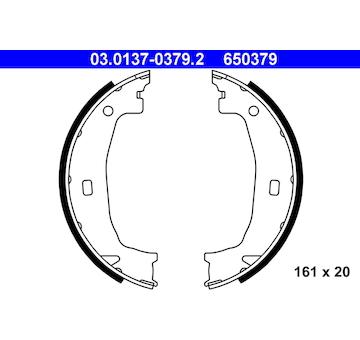 Sada brzdových čelistí, parkovací brzda ATE 03.0137-0379.2