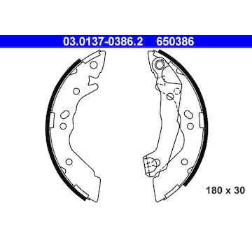 Sada brzdových čelistí ATE 03.0137-0386.2
