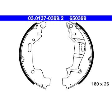 Sada brzdových čelistí ATE 03.0137-0399.2