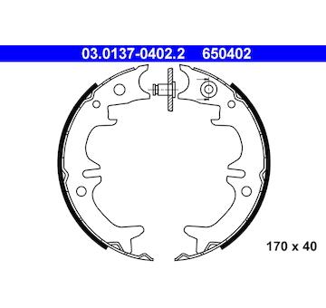 Sada brzdových čelistí, parkovací brzda ATE 03.0137-0402.2