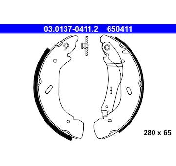 Sada brzdových čelistí ATE 03.0137-0411.2