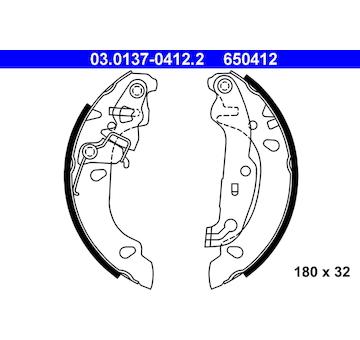 Sada brzdových čelistí ATE 03.0137-0412.2