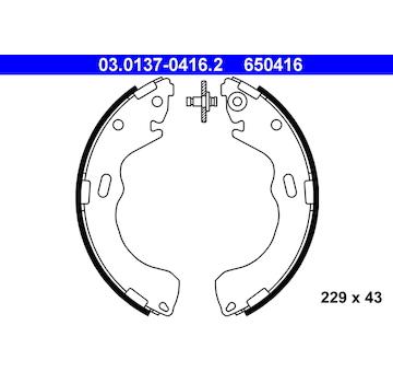 Sada brzdových čelistí ATE 03.0137-0416.2