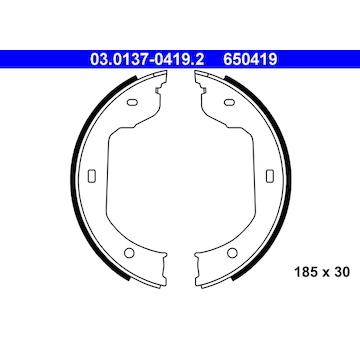 Sada brzdových čelistí, parkovací brzda ATE 03.0137-0419.2