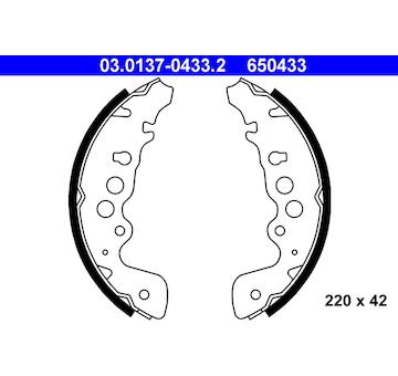 Sada brzdových čelistí ATE 03.0137-0433.2