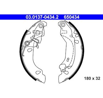 Sada brzdových čelistí ATE 03.0137-0434.2