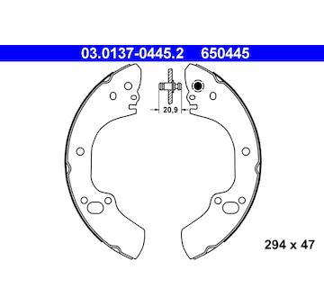 Sada brzdových čelistí ATE 03.0137-0445.2
