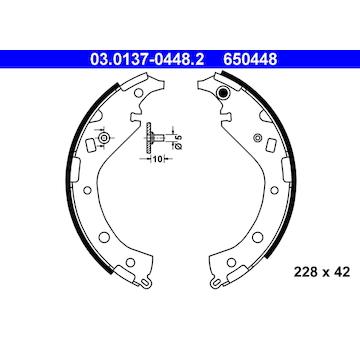 Sada brzdových čelistí ATE 03.0137-0448.2