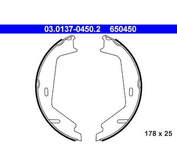 Sada brzdových čelistí, parkovací brzda ATE 03.0137-0450.2
