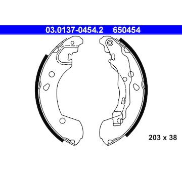 Sada brzdových čelistí ATE 03.0137-0454.2