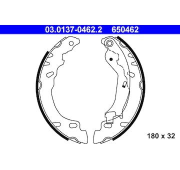 Sada brzdových čelistí ATE 03.0137-0462.2