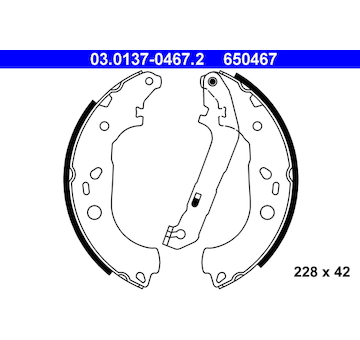 Sada brzdových čelistí ATE 03.0137-0467.2