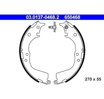 Sada brzdových čelistí ATE 03.0137-0468.2