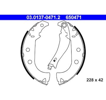 Sada brzdových čelistí ATE 03.0137-0471.2