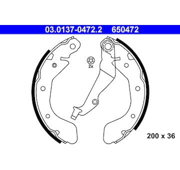 Sada brzdových čelistí ATE 03.0137-0472.2