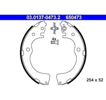 Sada brzdových čelistí ATE 03.0137-0473.2