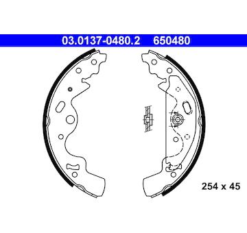 Sada brzdových čelistí ATE 03.0137-0480.2