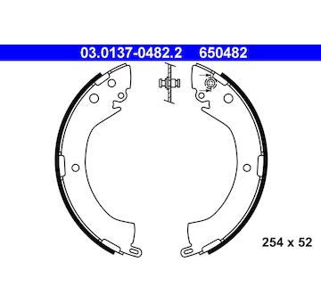 Sada brzdových čelistí ATE 03.0137-0482.2
