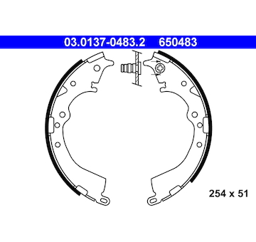 Sada brzdových čelistí ATE 03.0137-0483.2