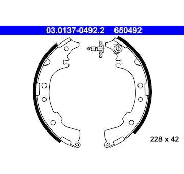 Sada brzdových čelistí ATE 03.0137-0492.2