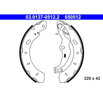 Sada brzdových čelistí ATE 03.0137-0512.2