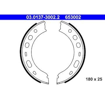 Sada brzdových čelistí, parkovací brzda ATE 03.0137-3002.2