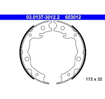 Sada brzdových čelistí, parkovací brzda ATE 03.0137-3012.2