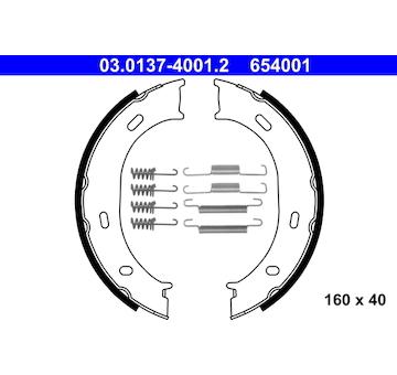 Sada brzdových čelistí, parkovací brzda ATE 03.0137-4001.2
