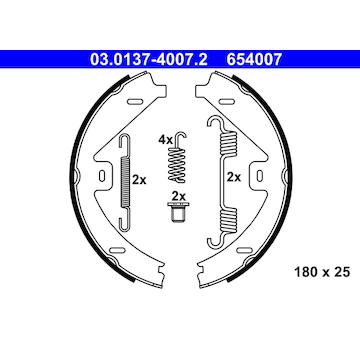 Sada brzdových čelistí, parkovací brzda ATE 03.0137-4007.2
