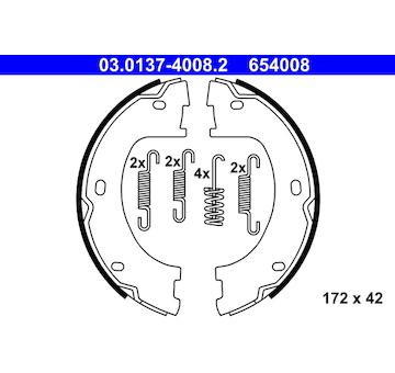 Sada brzdových čelistí, parkovací brzda ATE 03.0137-4008.2