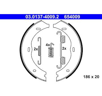 Sada brzdových čelistí, parkovací brzda ATE 03.0137-4009.2