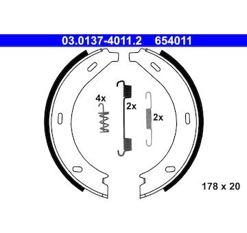Sada brzdových čelistí, parkovací brzda ATE 03.0137-4011.2