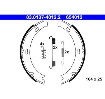 Sada brzdových čelistí, parkovací brzda ATE 03.0137-4012.2