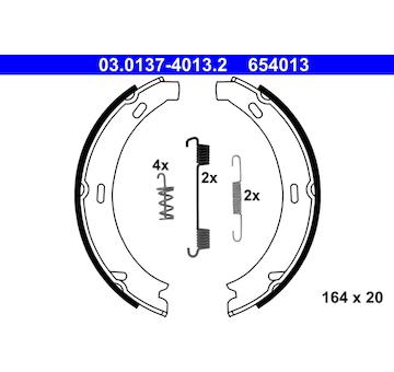 Sada brzdových čelistí, parkovací brzda ATE 03.0137-4013.2