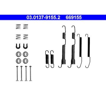 Sada prislusenstvi, brzdove celisti ATE 03.0137-9155.2