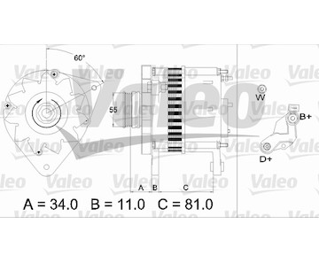 generátor VALEO 437111
