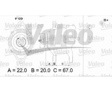 generátor VALEO 437163
