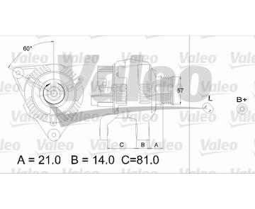 generátor VALEO 437188